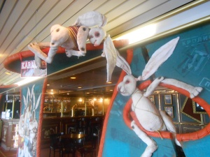 the bar on the cruise